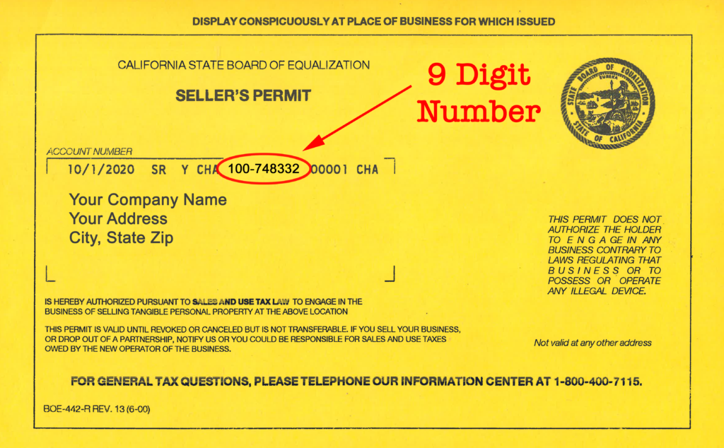 CA Resale Permit Mock Up